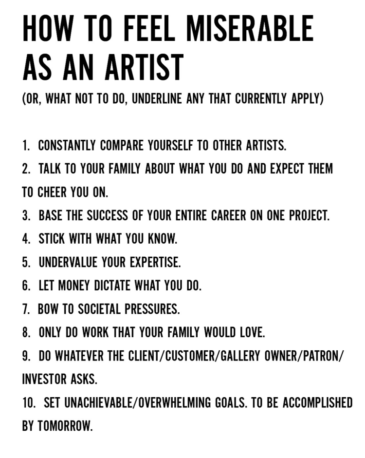how-to-be-miserable-as-an-artist
